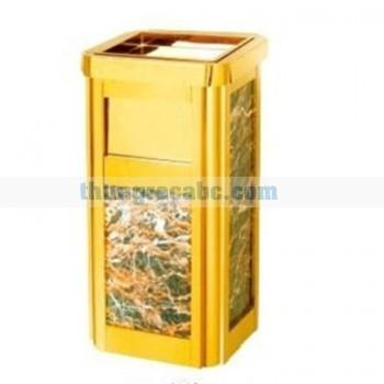 Thùng rác đá hoa cương có khay gạt tàn thuốc lá
