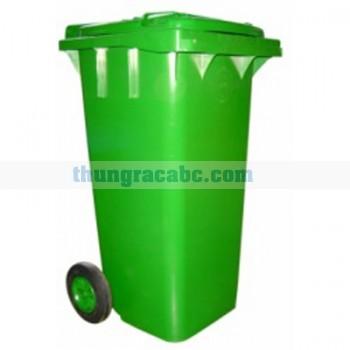 Thùng rác nhựa HDPE có nắp có bánh xe 120 L