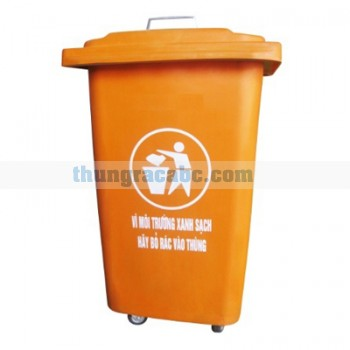 Thùng rác nhưa composite có nắp 60 lít