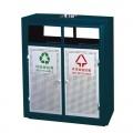 Thùng rác ngoài trời 2 ngăn phân loại rác thải cao cấp