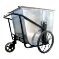 Xe thu gom rác bằng tôn 3 bánh môi trường 400 lít