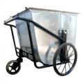 Xe thu gom rác đẩy tay bằng tôn 400 lít
