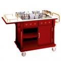 Tủ bếp di động có bếp ga nấu ăn tại bàn